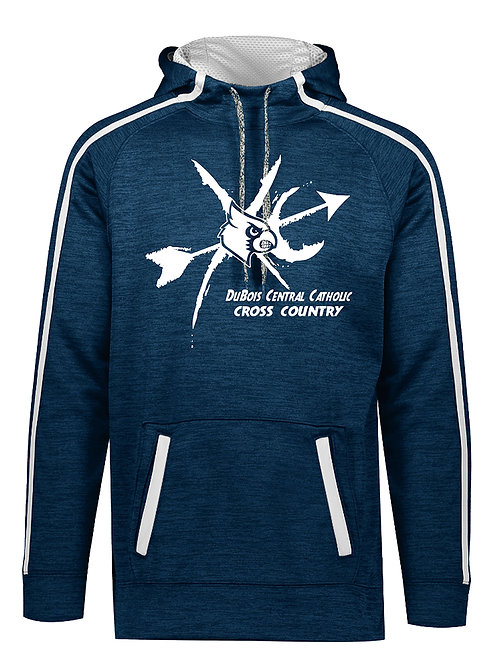 100% Polyester Navy Heather Hoodie