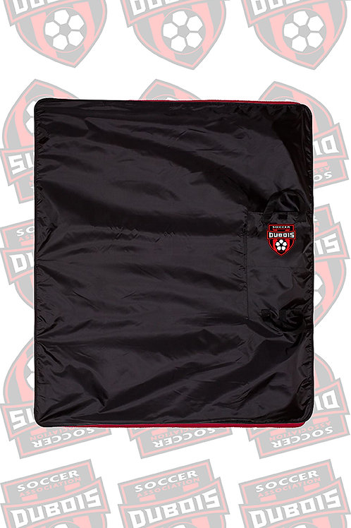 Polyester/Nylon Blanket Black with Red
