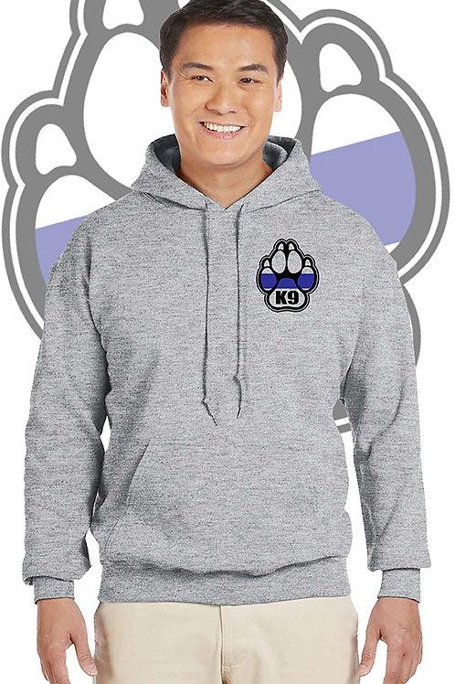 K-9 Adult Grey Hoodie
