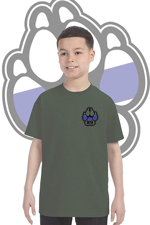 K-9 Youth Military Green Tee