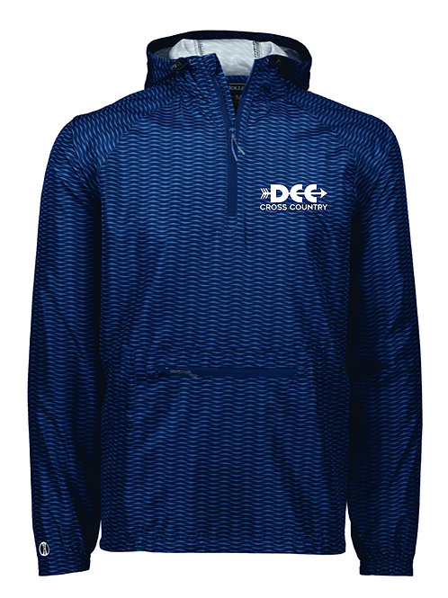 100% Poly Navy Packable Pullover Jacket