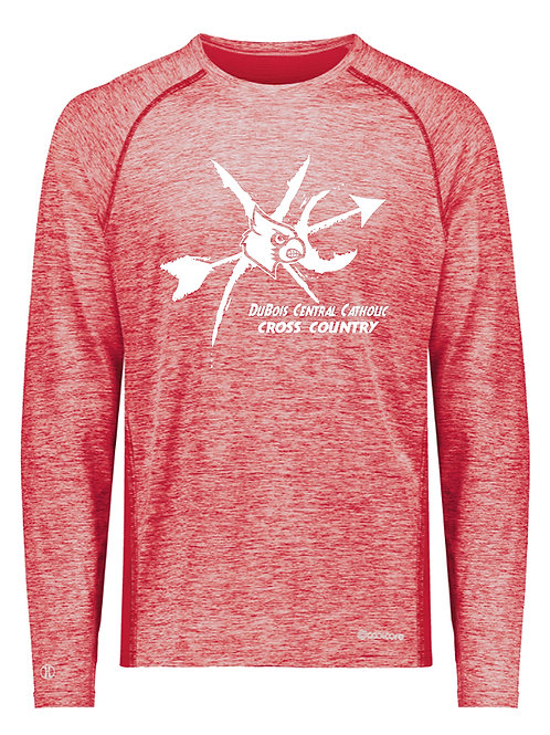 Poly Blend Red Heather Long Sleeve