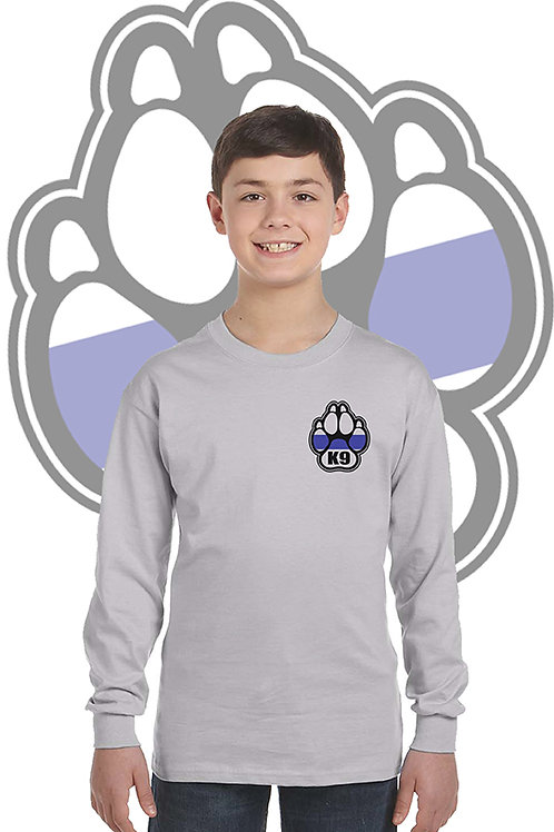 K-9 Youth Grey Long sleeve