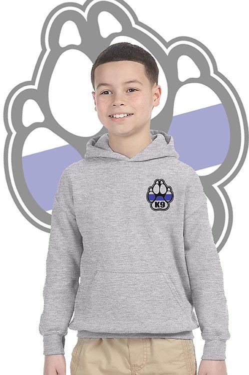 K-9 Youth Grey Hoodie