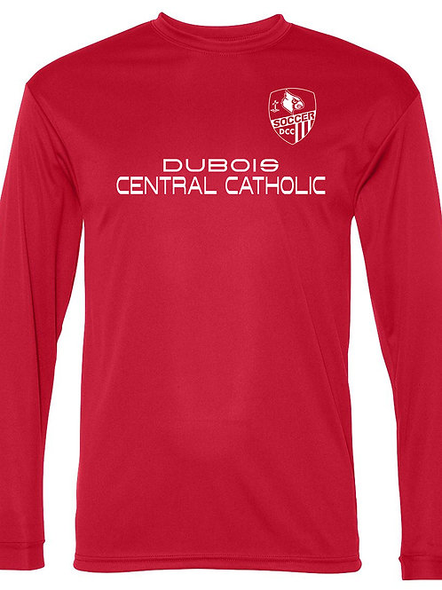 100% Polyester Red Long Sleeve