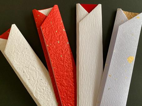 【お正月用箸包】折形礼法と水引で華やかに手作り