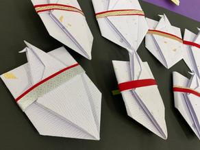 【折形礼法 鶴の金封】カルッツかわさき生徒様の作品