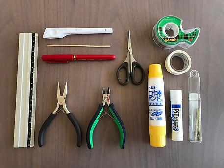 折形礼法で使用する工具