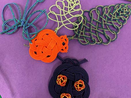 【水引で作る蝶やてんとう虫】カルッツかわさき 生徒様の作品 折形礼法、水引カルチャー倶楽部