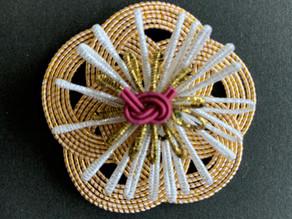 【水引 梅の飾り結び】折形礼法、水引カルチャー倶楽部 類家三枝子