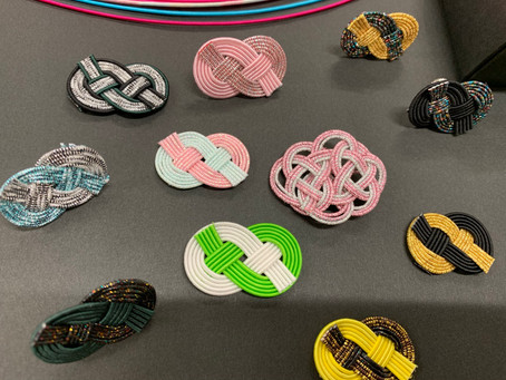 【水引で作る雲結び 】カルッツかわさき 生徒様の作品   折折形礼法、水引カルチャー倶楽部