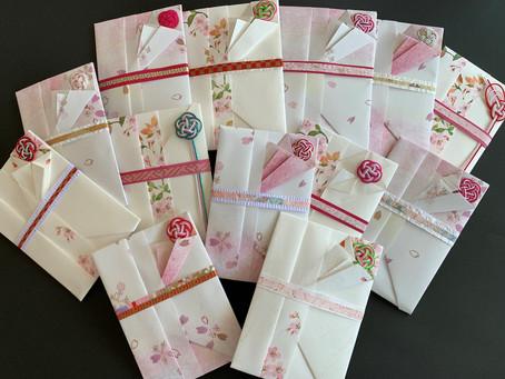 【折形礼法で桜満開】折形礼法、水引カルチャー倶楽部   東京 折形礼法と水引の飾り結びが学べる教室