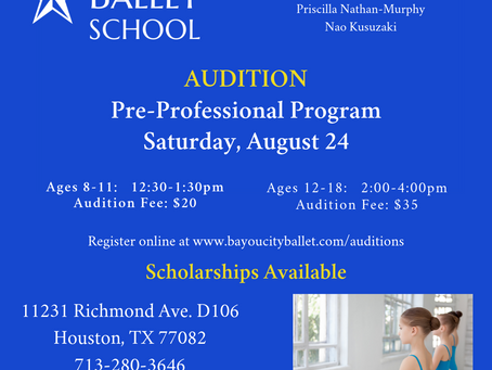 Audition for Pre-Professional Program
