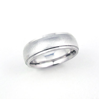 14kt White Gold Gents Ring
