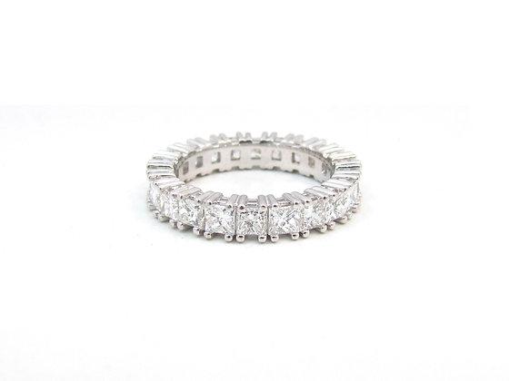 14kt White Gold Princess Eternity Ring