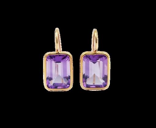 14kt Rose Gold Amethyst Earrings