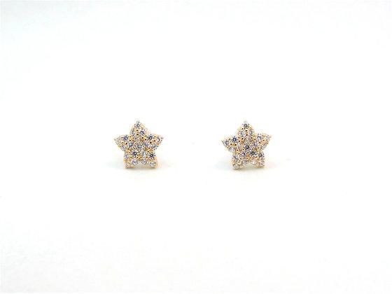 10kt Yellow Gold Star Stud Earrings