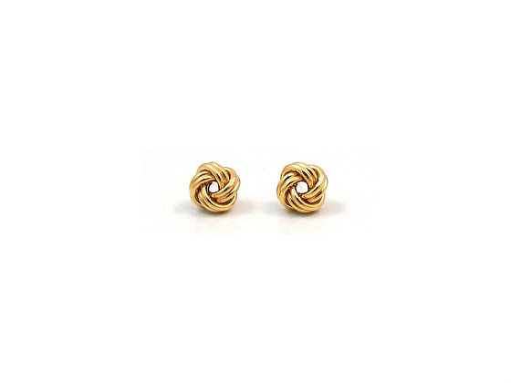 14kt Yellow Gold Small Knot Studs