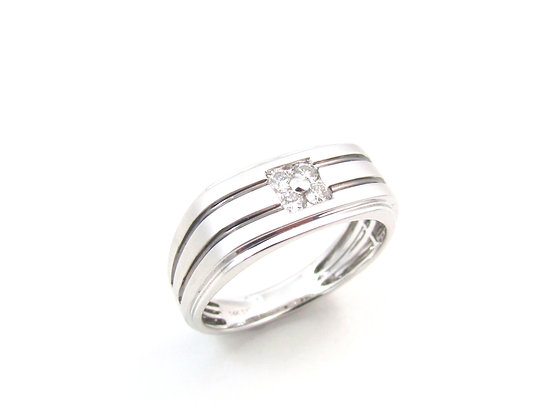 10kt White Gold Gents Rings