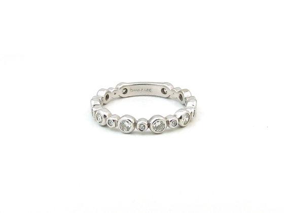 14kt White Gold Diamond Wedding Ring