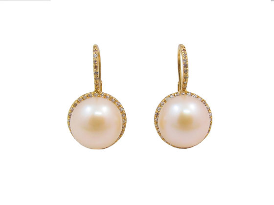 18kt Yellow Gold Pear Earrings