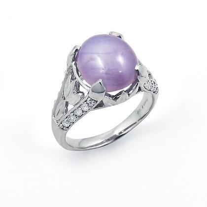 14kt White Gold Star Sapphire Ring