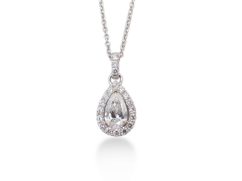 18kt white gold pear diamond pendant saati fine jewellery 18kt white gold pear diamond pendant mozeypictures Images