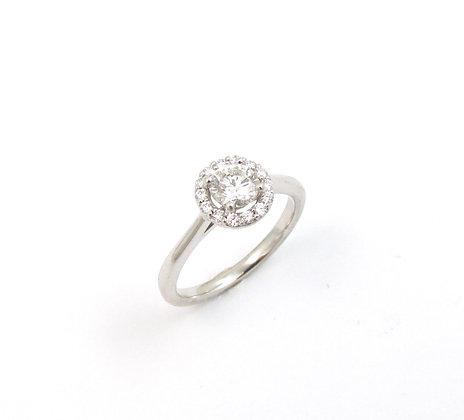 14kt White Gold Diamond Halo Engagement Ring