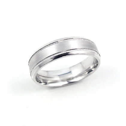 10kt White Gold Gents Ring