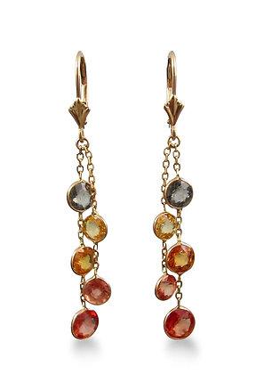 14kt Yellow Gold Sapphire Earrings