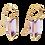 Thumbnail: 14kt Rose Gold Amethyst Earrings