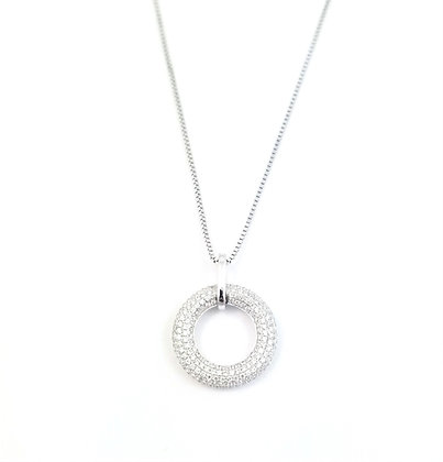 14kt White Gold Pave Diamond Pendant