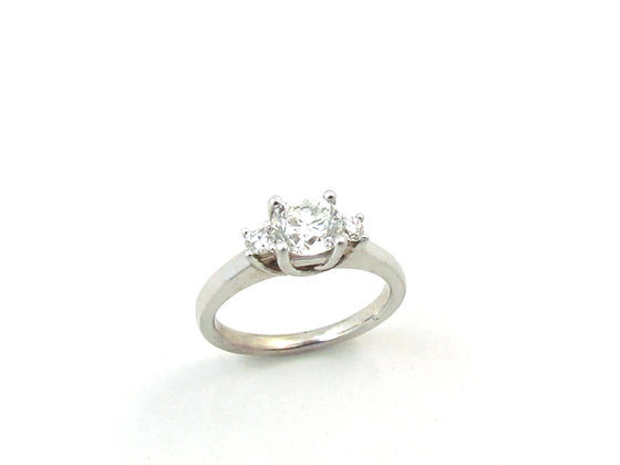 14kt White Gold Three Stone Diamond Ring