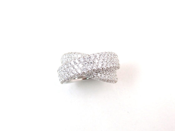 18kt White Gold Diamond Pave Ring