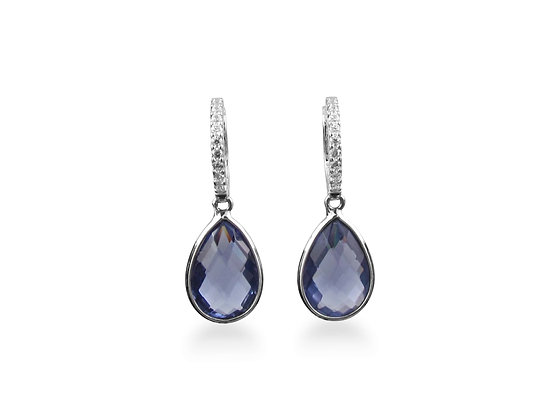 18kt White Gold Amethyst Earrings