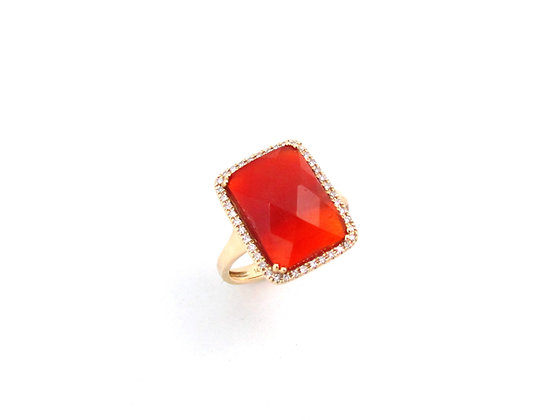 14kt Yellow Gold Carnelian Ring