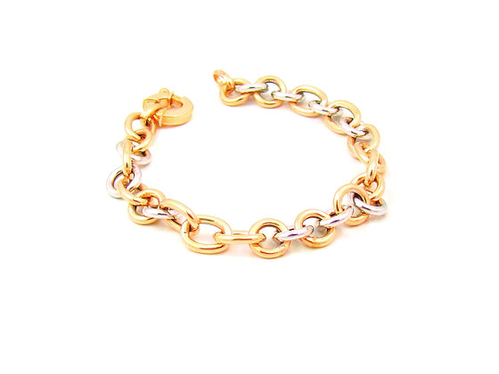 10kt white and Yellow Gold Link Bracelet