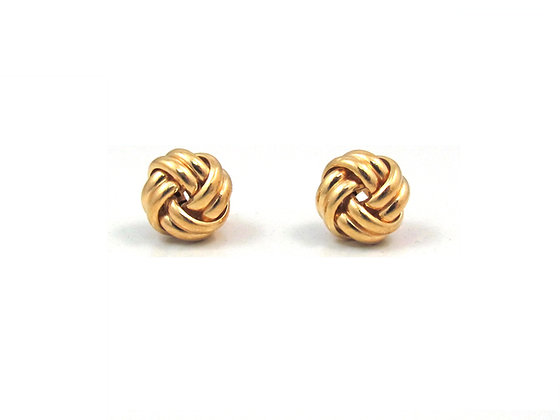 14kt Yellow Gold Knot Studs