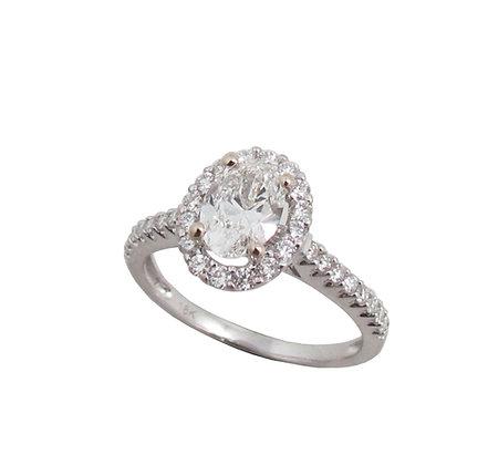 18 kt White Gold Diamond Engagement Ring