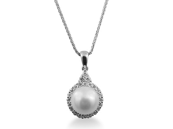 14kt White Gold South Sea Pear Pendant