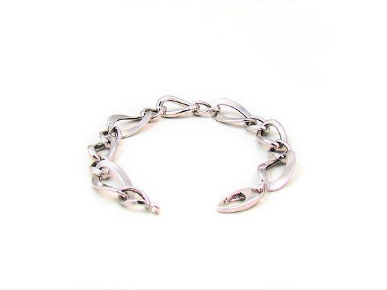 14kt White Gold Link Bracelet