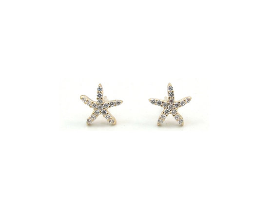 10kt Yellow Gold Starfish Stud Earrings