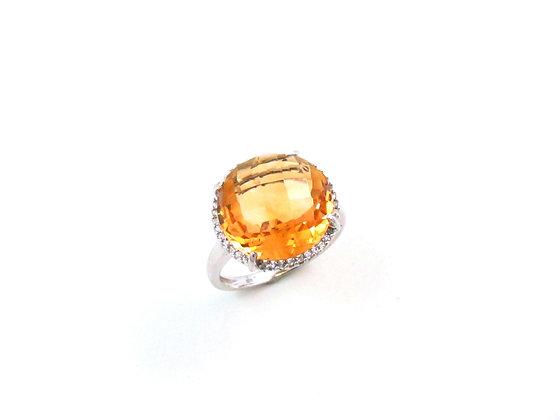 14kt White Gold Citrine Topaz Ring