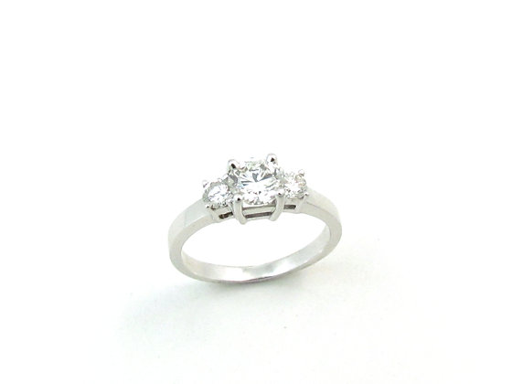 14kt White Gold Three Stone Diamond Ring