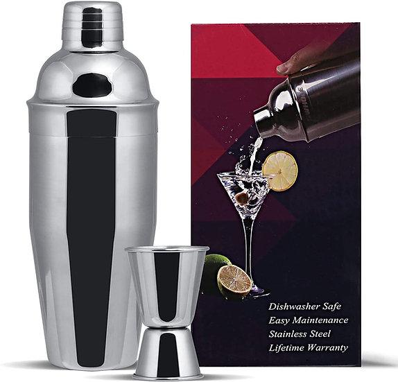 GWHOLE Coctelera de Cóctel Profesional del Acero Inoxidable 750ml