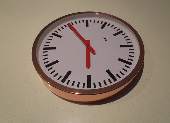 Wall Clock Copper Sided