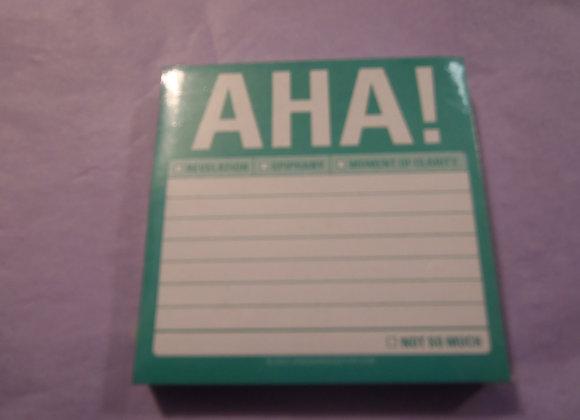 Note Pad - AHA