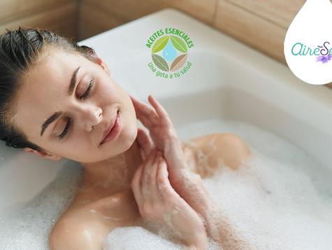 Baño aromático con aceites esenciales