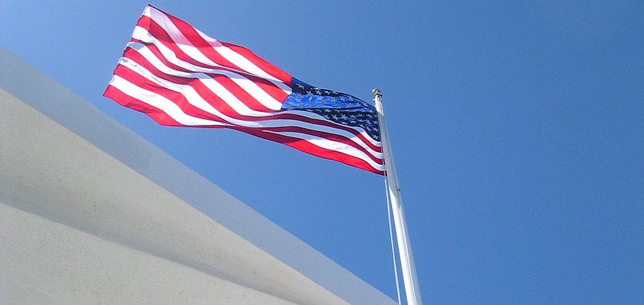 Battleship Row Arizona Flag May 2005.jpg