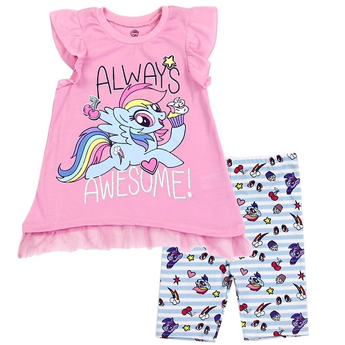 MY LITTLE PONY Girls 2PC Bike Short Set